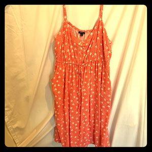 Torrid floral dress with pockets. Size 2
